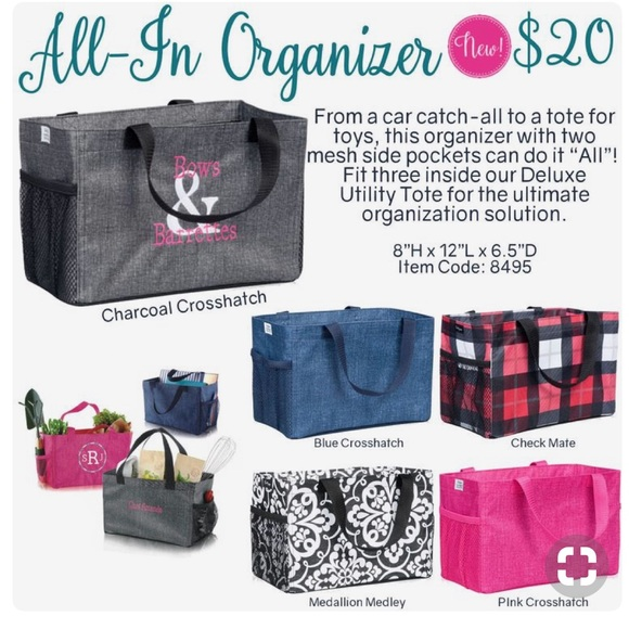 "cfdd6503afb4 Thirty-One All In Organizer ""Check Mate"" NWT"